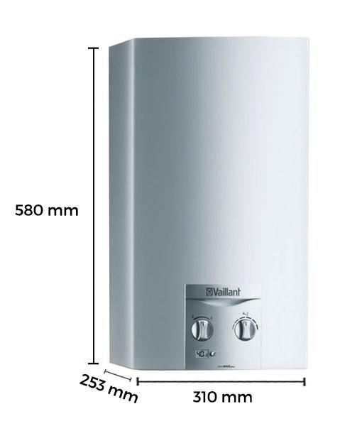 Dimensiones calentador de agua a gas 11 litros tiro - Calentador 11 litros ...