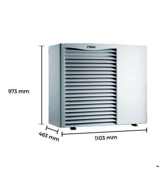 Bomba de calor aire agua vaillant arotherm vwl 85 2 - Bomba de calor aire agua precio ...