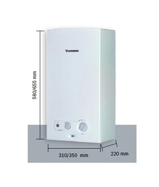 Calentador a gas junkers 11 litros gas natural minimaxx wr - Calentador a gas ...