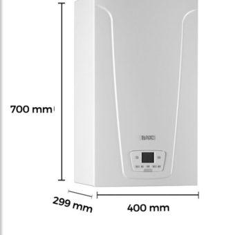 Dimensiones Caldera a Gas de Condensación BaxiRoca Modelo Neodens Plus ECO 24/24 F