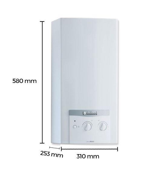 Calentador de gas vaillant 11 litros butano atmomag mini - Calentador 11 litros ...