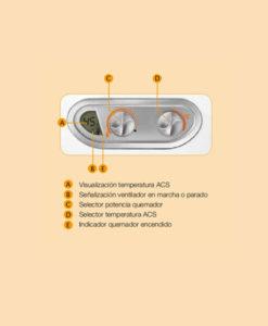 Panel frontal Calentador a Gas 11 Litros Tiro Estanco Cointra Supreme 11 E Plus