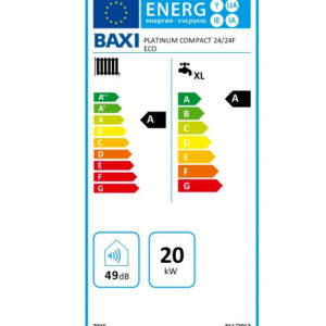Tarjeta eficiencia energética Caldera a Gas de Condensación Baxi Platinum Compact ECO 24/24 F