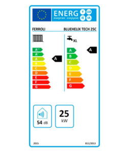 Tarjeta eficiencia energética Caldera a Gas de Condensación Ferroli BLUEHELIX TECH 25 CN