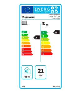 Tarjeta eficiencia energética Caldera a Gas de Condensación Junkers Cerapur ZWBC 22/24 - 2C