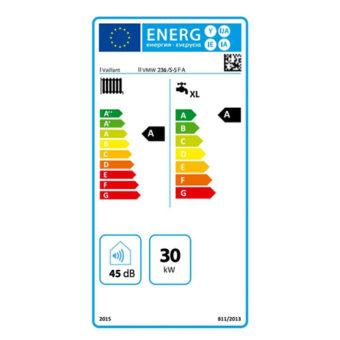 Tarjeta Eficiencia Energética Caldera a Gas de Condensación Vaillant ecoTEC Plus VMW ES 236 5/5 FA