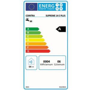 Tarjeta eficiencia energética Calentador a Gas 11 Litros Estanco Cointra Supreme 11 E Plus