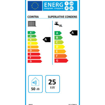 Tarjeta Clasificación Energética Caldera a Gas de Condensación Cointra Superlative Condens 25 C
