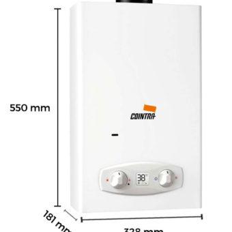 Dimensiones Calentador de Agua a Gas 11 Litros Tiro Natural Atmosférico Cointra ÓPTIMA COB-11D