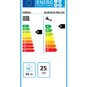 Tarjeta eficiencia energética Caldera a Gas de Condensación Ferroli Bluehelix Pro CN