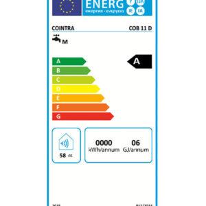 Tarjeta eficiencia energética Calentador de Agua a Gas 11 Litros Tiro Natural Atmosférico Cointra ÓPTIMA COB-11D