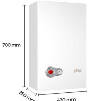 Dimensiones Caldera a Gas de Condensación Ferroli Bluehelix Pro Slim 27 CN