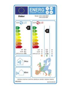 Tarjeta eficiencia energética Aire Acondicionado Split Vaillant VAI 6-035 WN