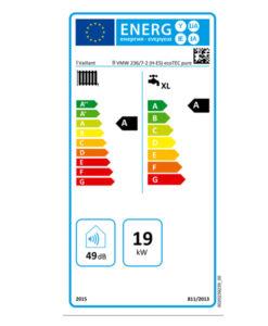 Tarjeta eficiencia energética Caldera a Gas de Condensación Vaillant ecoTEC PURE VMW 236/7-2