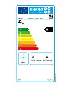 Tarjeta eficiencia energética Calentador Agua a Gas 11 Litros Tiro Forzado Termostático Vaillant atmoMAG Exclusive 11-4/0 ETe