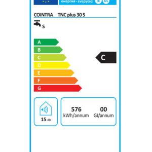 Etiqueta energética termo eléctrico TNC Plus 30S