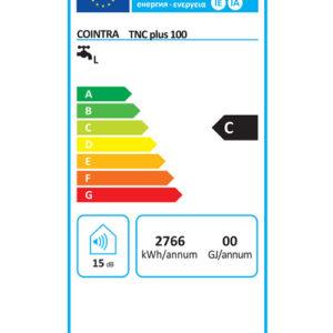 Tarjeta Eficiencia Energética termo eléctrico Cointra TNC Plus 100