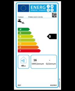 Tarjeta Eficiencia Energética Calentador Estanco Vaillant turboMAG PRO 122 2/3
