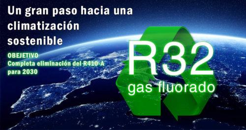 Nuevo sustituto del gas R410A - R32