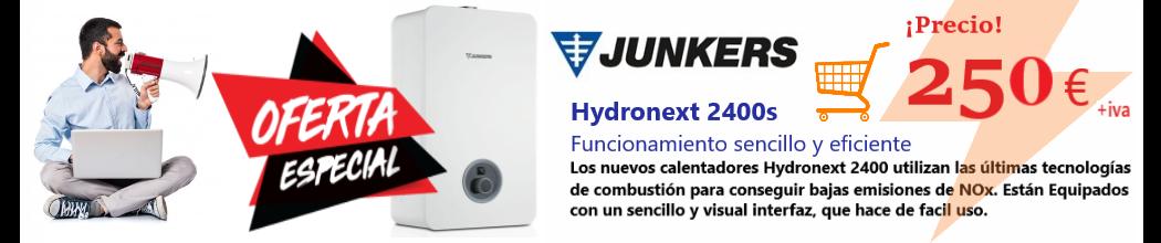 OFERTA ESPECIAL!  Tu Calentador Junkers Hydronext 2400S, a un precio imbatible, por tan sólo 250 euros + IVA